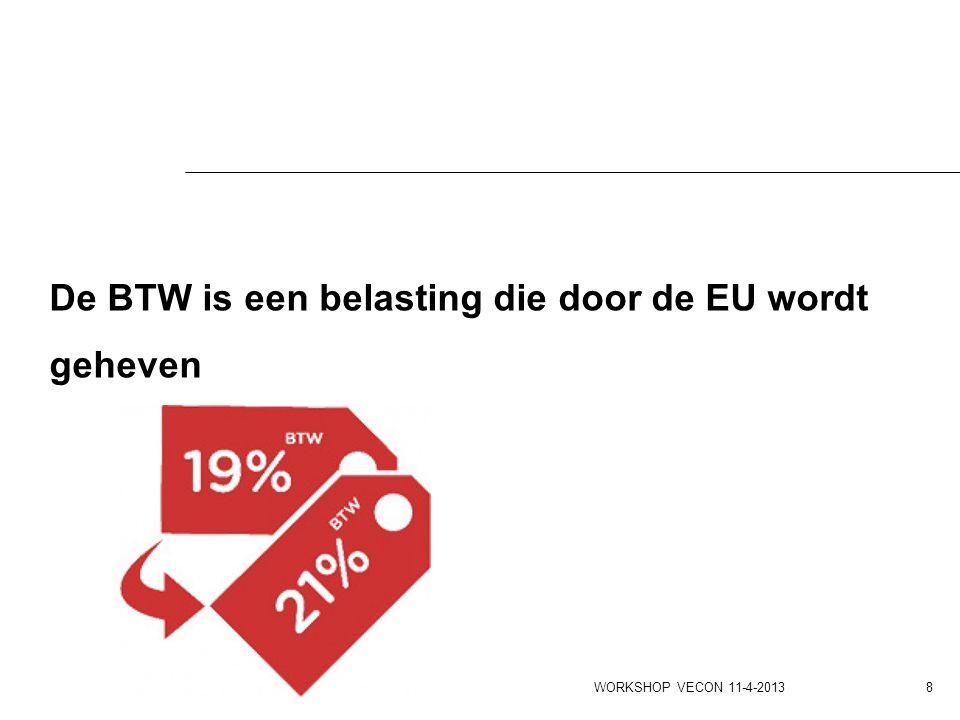 De BTW is een belasting die door de EU wordt geheven
