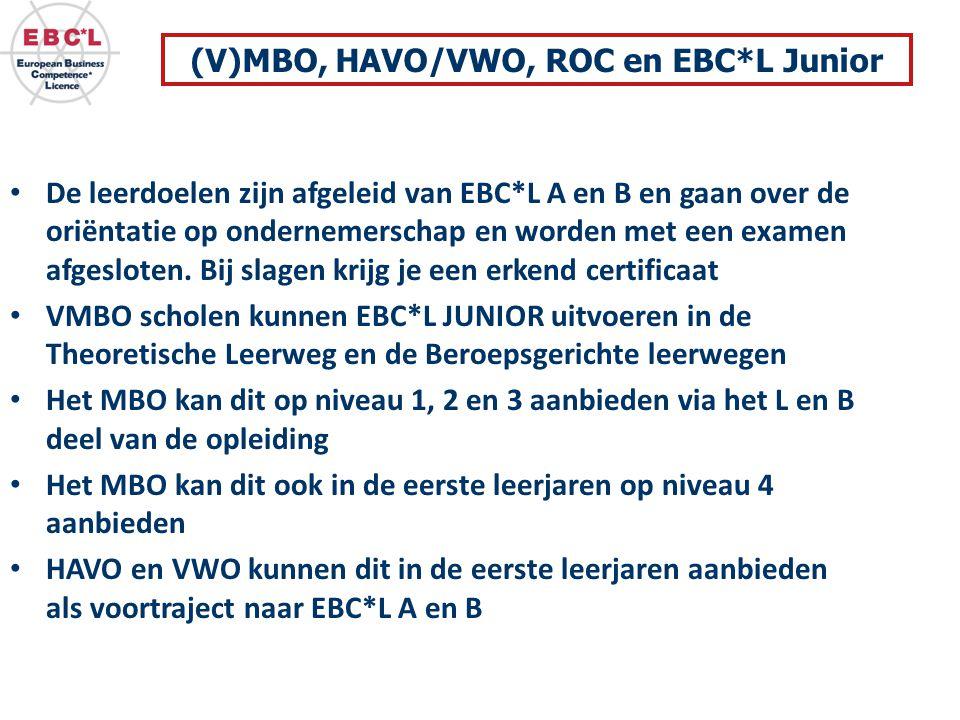 (V)MBO, HAVO/VWO, ROC en EBC*L Junior