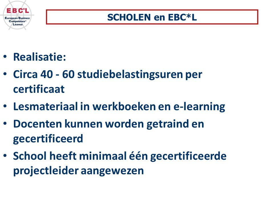 Circa 40 - 60 studiebelastingsuren per certificaat