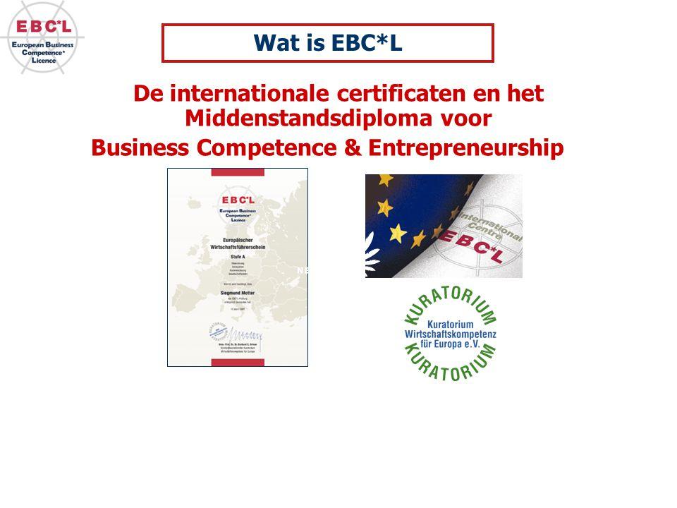 De internationale certificaten en het Middenstandsdiploma voor