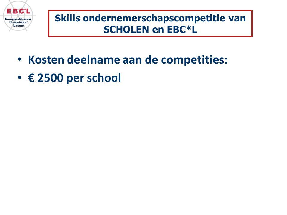 Skills ondernemerschapscompetitie van SCHOLEN en EBC*L