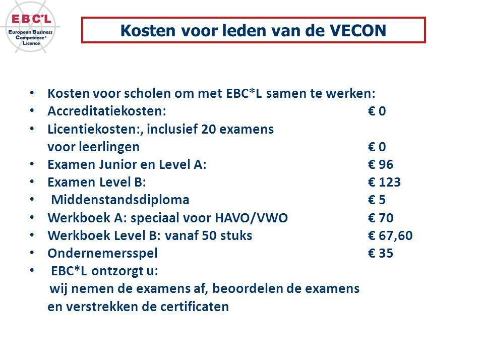 Kosten voor leden van de VECON
