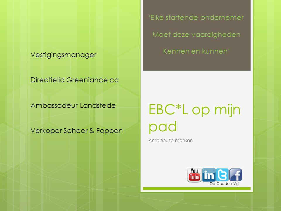 EBC*L op mijn pad 'Elke startende ondernemer Moet deze vaardigheden