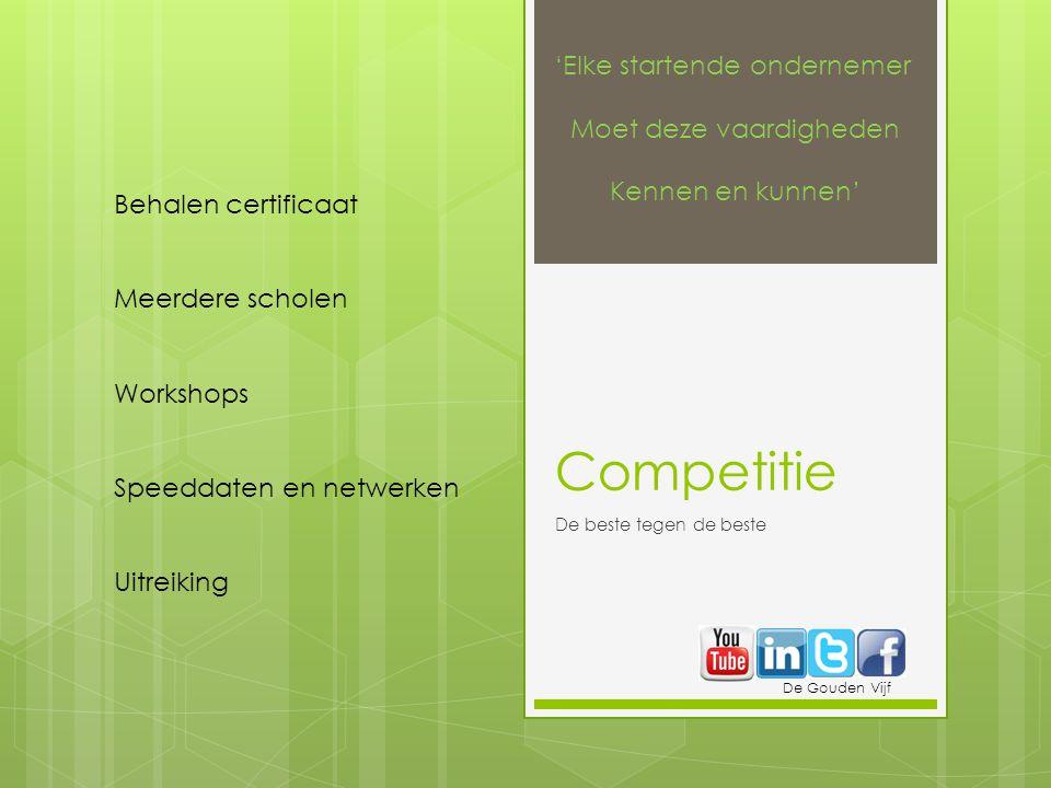 Competitie 'Elke startende ondernemer Moet deze vaardigheden