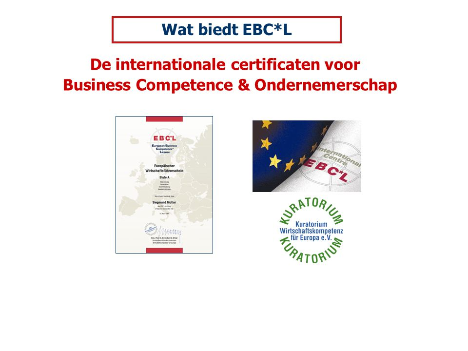 De internationale certificaten voor