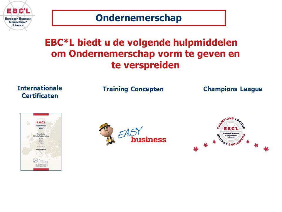 Ondernemerschap EBC*L biedt u de volgende hulpmiddelen om Ondernemerschap vorm te geven en te verspreiden.