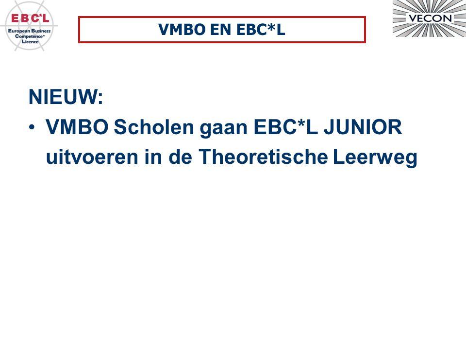 VMBO Scholen gaan EBC*L JUNIOR uitvoeren in de Theoretische Leerweg