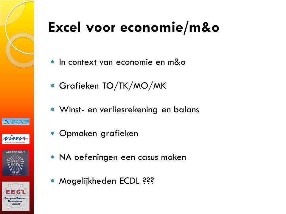 Excel voor economie/m&o