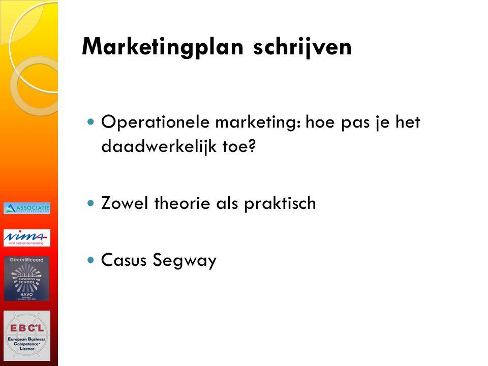 Marketingplan schrijven