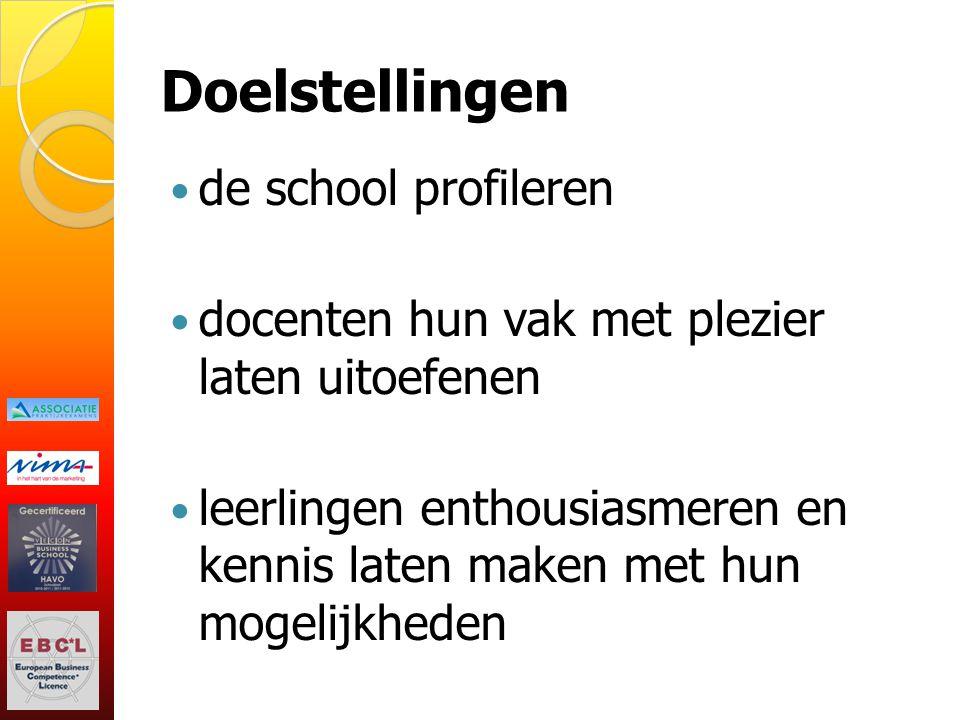 Doelstellingen de school profileren