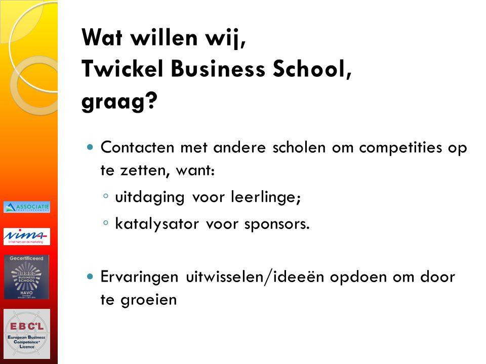 Wat willen wij, Twickel Business School, graag