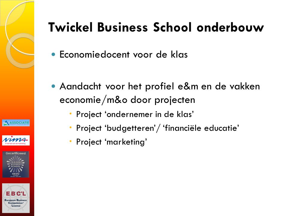 Twickel Business School onderbouw