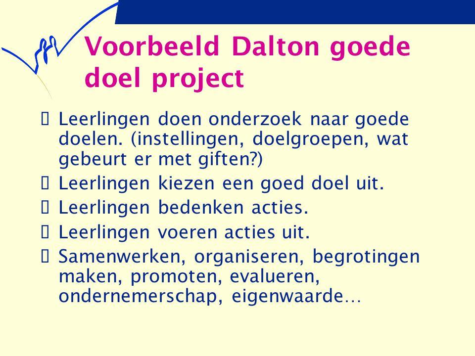 Voorbeeld Dalton goede doel project