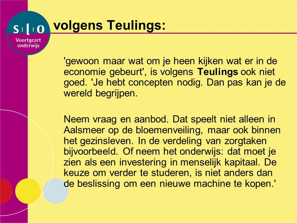 volgens Teulings: