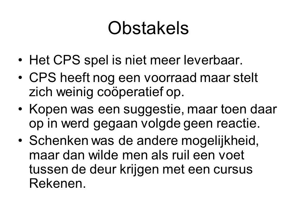 Obstakels Het CPS spel is niet meer leverbaar.