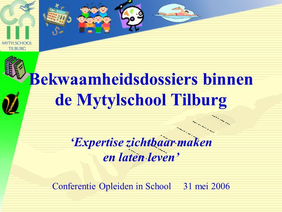 Bekwaamheidsdossiers binnen de Mytylschool Tilburg