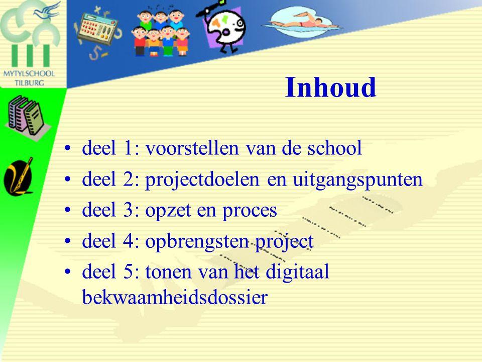 Inhoud deel 1: voorstellen van de school
