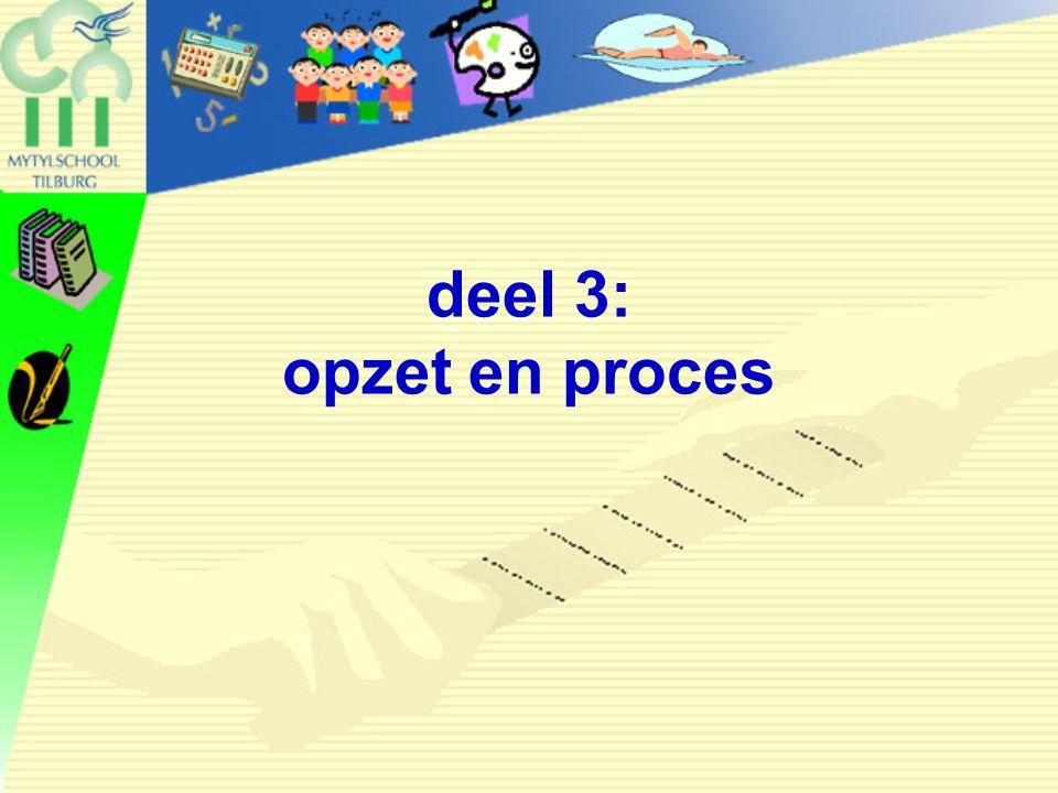 deel 3: opzet en proces