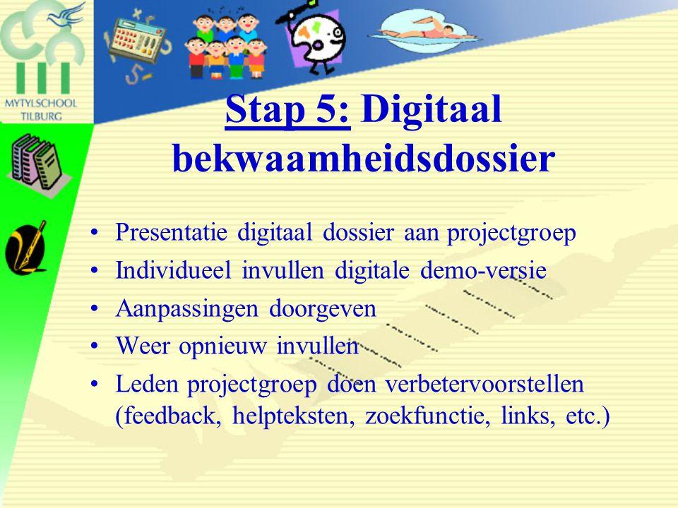 Stap 5: Digitaal bekwaamheidsdossier
