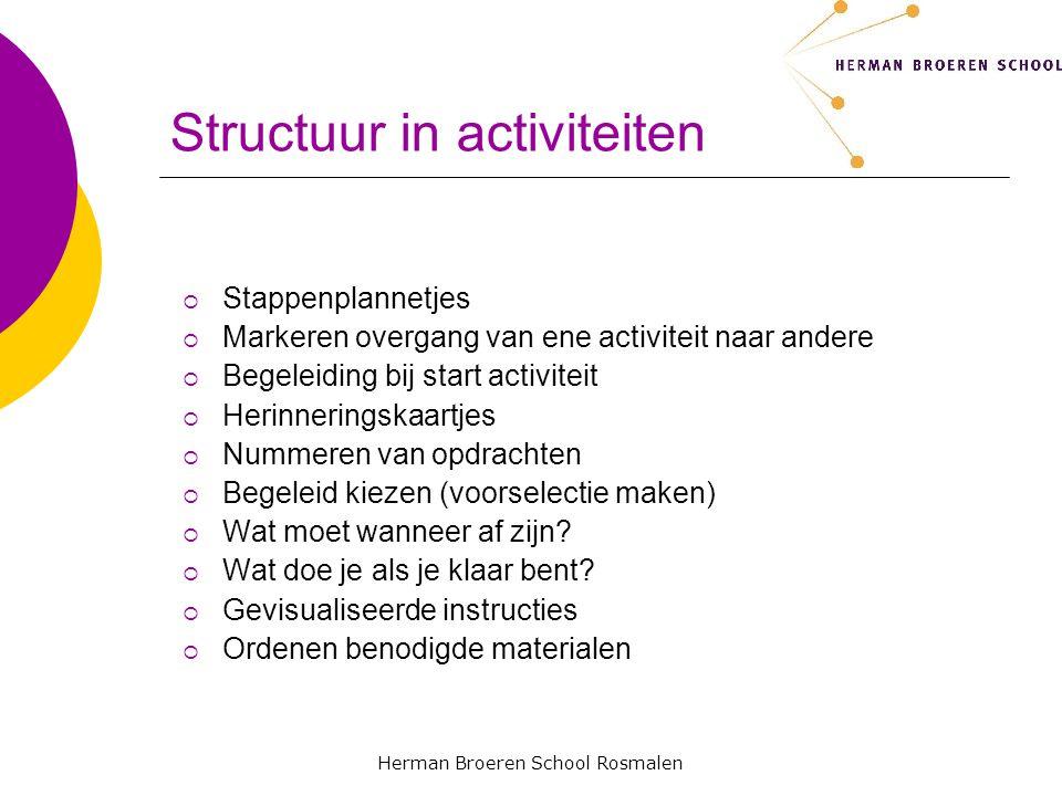 Structuur in activiteiten