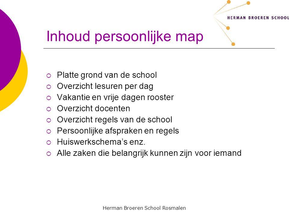 Inhoud persoonlijke map
