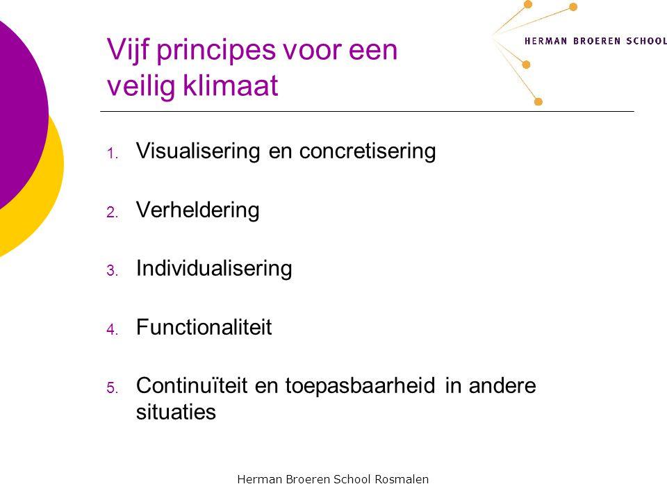 Vijf principes voor een veilig klimaat