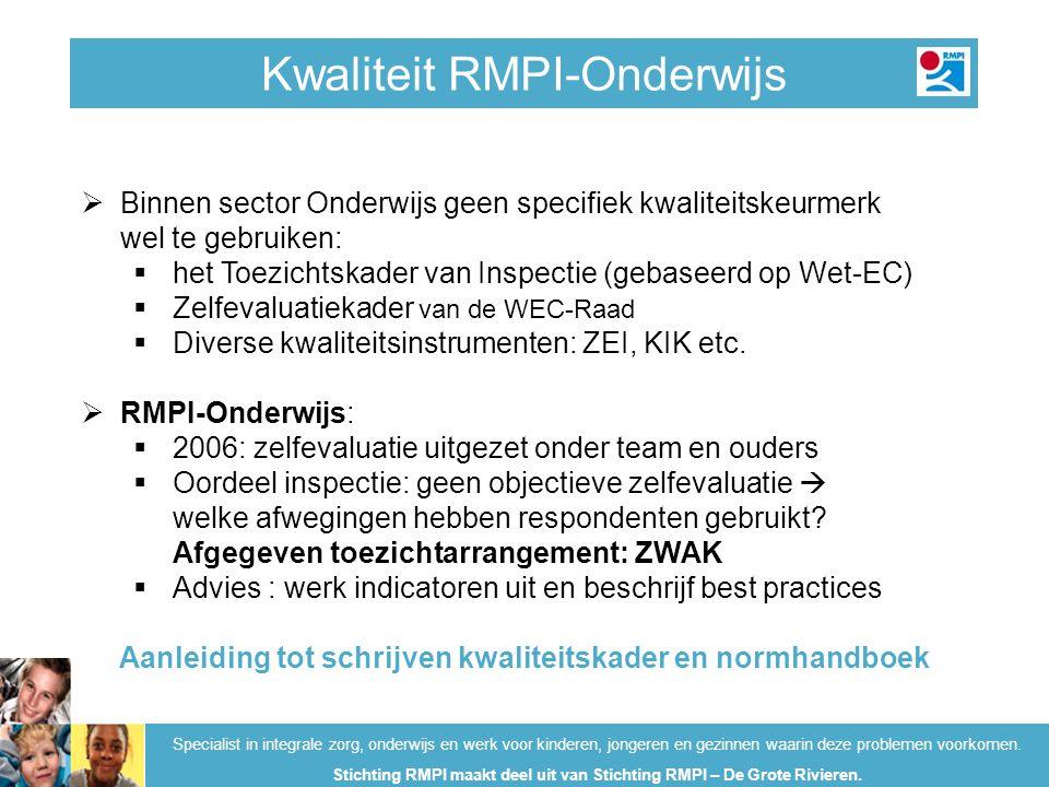 Kwaliteit RMPI-Onderwijs