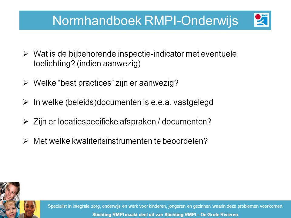 Normhandboek RMPI-Onderwijs