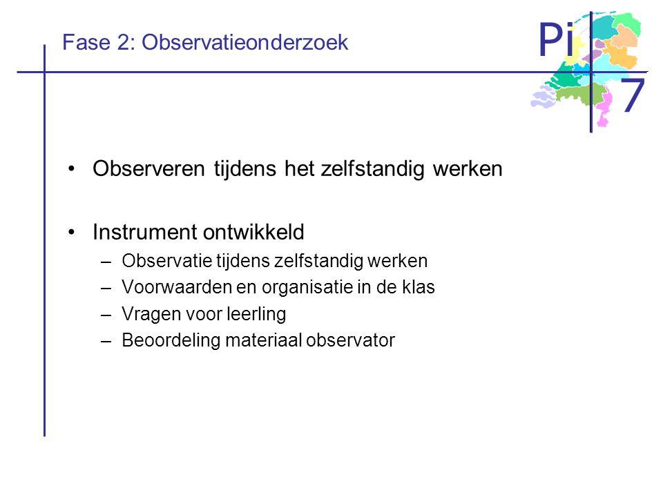 Fase 2: Observatieonderzoek