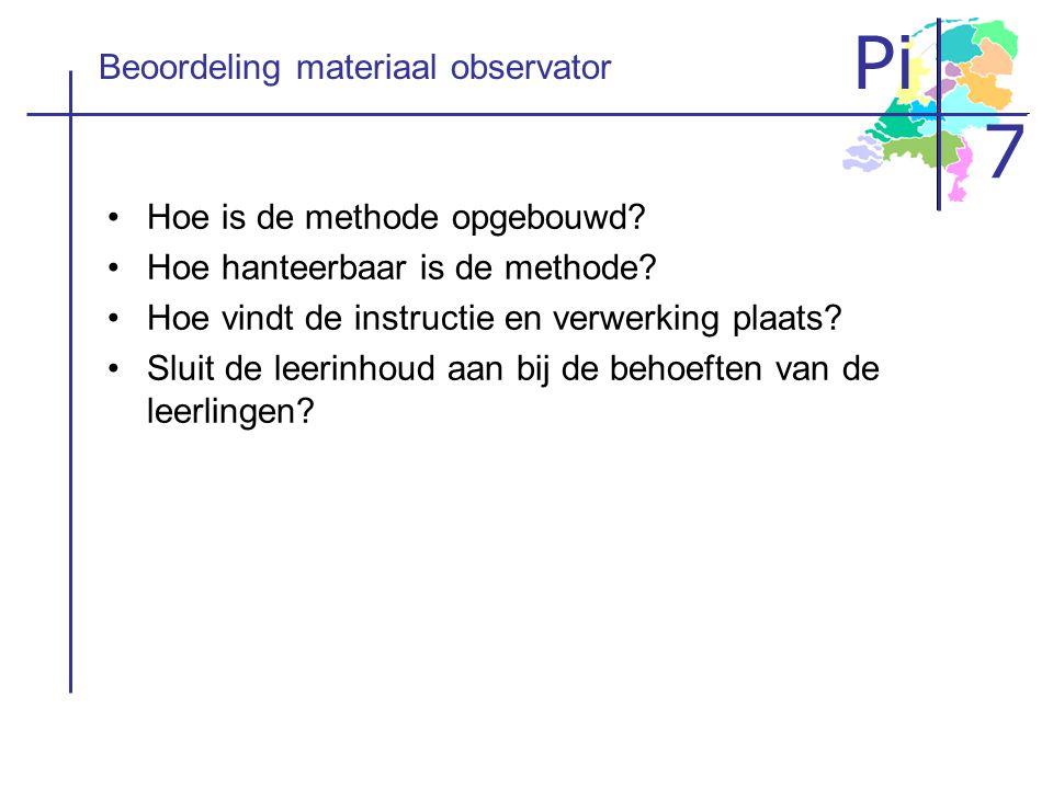 Beoordeling materiaal observator