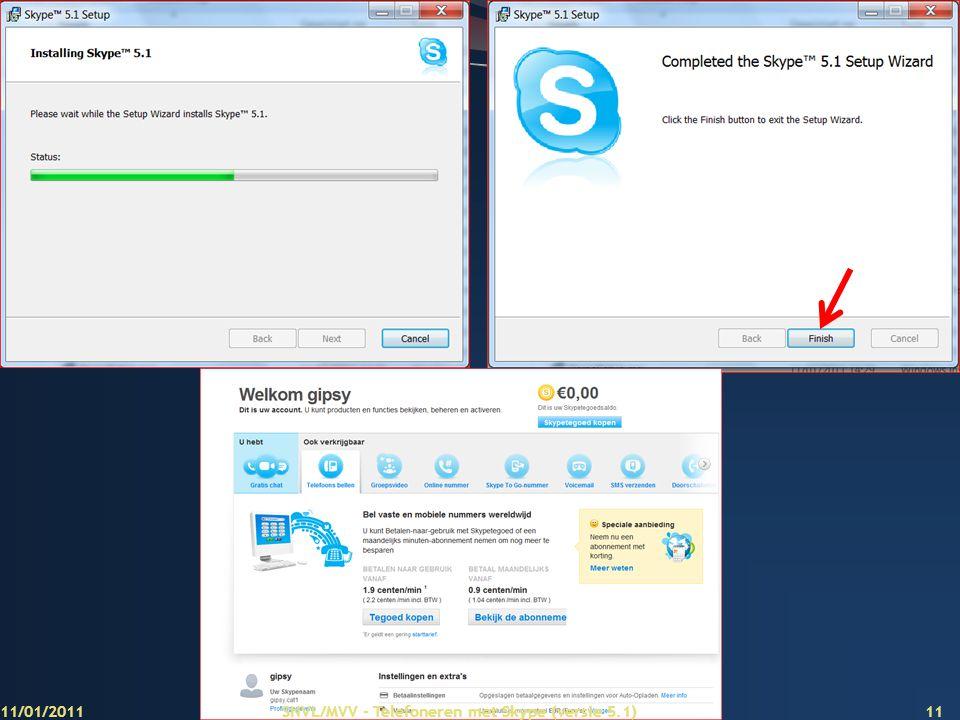 Aanklikken 11/01/2011 SNVL/MVV - Telefoneren met Skype (versie 5.1)