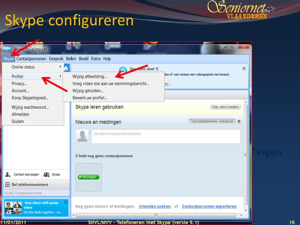 Skype configureren Skype plaatje of eigen foto toevoegen 11/01/2011