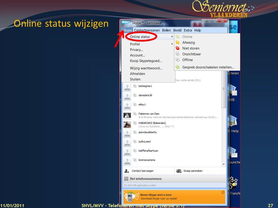 Online status wijzigen