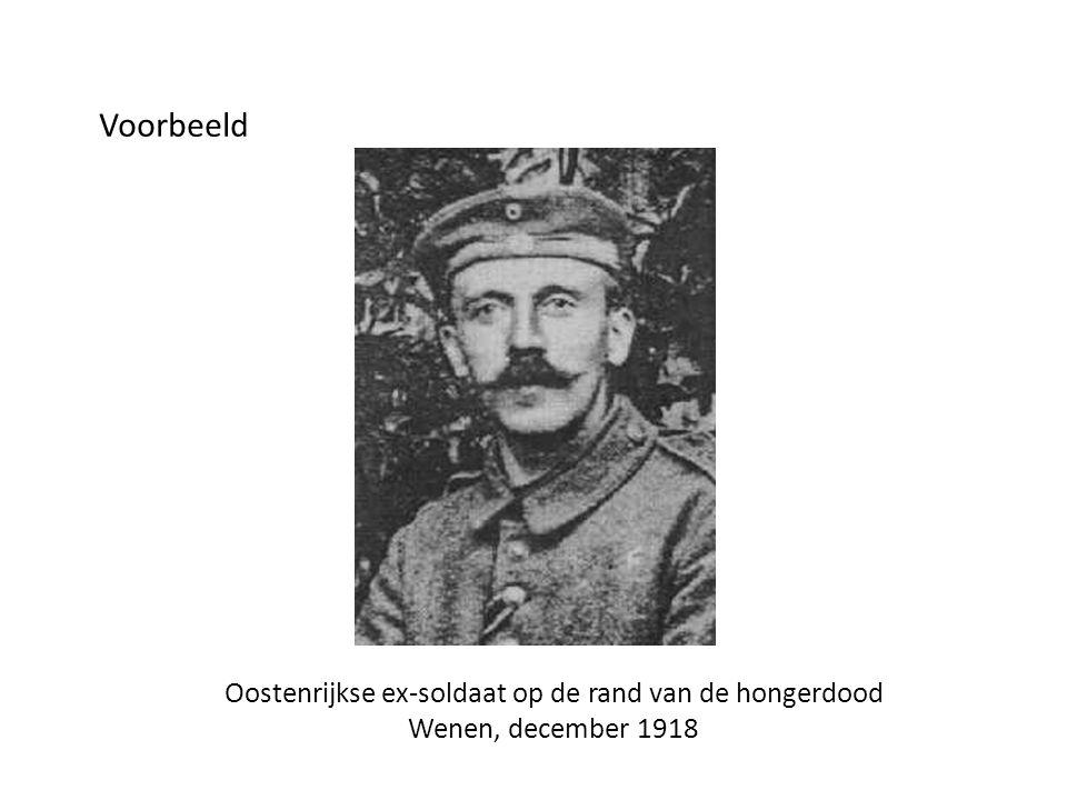 Oostenrijkse ex-soldaat op de rand van de hongerdood