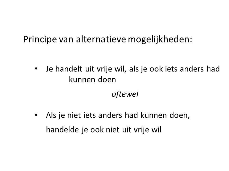 Principe van alternatieve mogelijkheden: