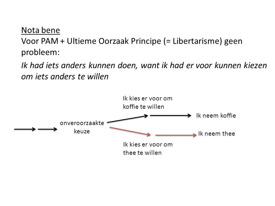 Voor PAM + Ultieme Oorzaak Principe (= Libertarisme) geen probleem: