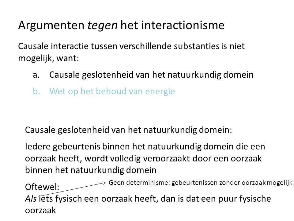 Argumenten tegen het interactionisme