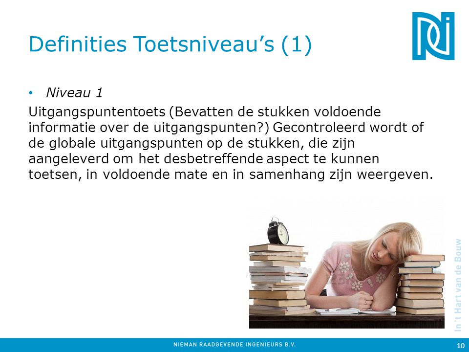 Definities Toetsniveau's (1)