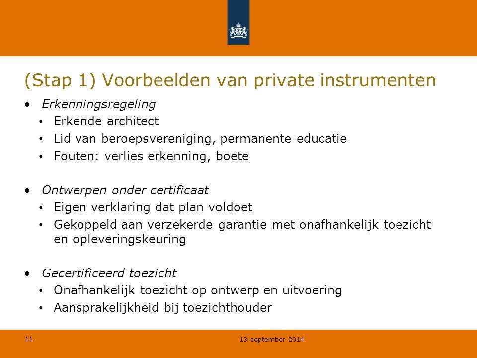 (Stap 1) Voorbeelden van private instrumenten