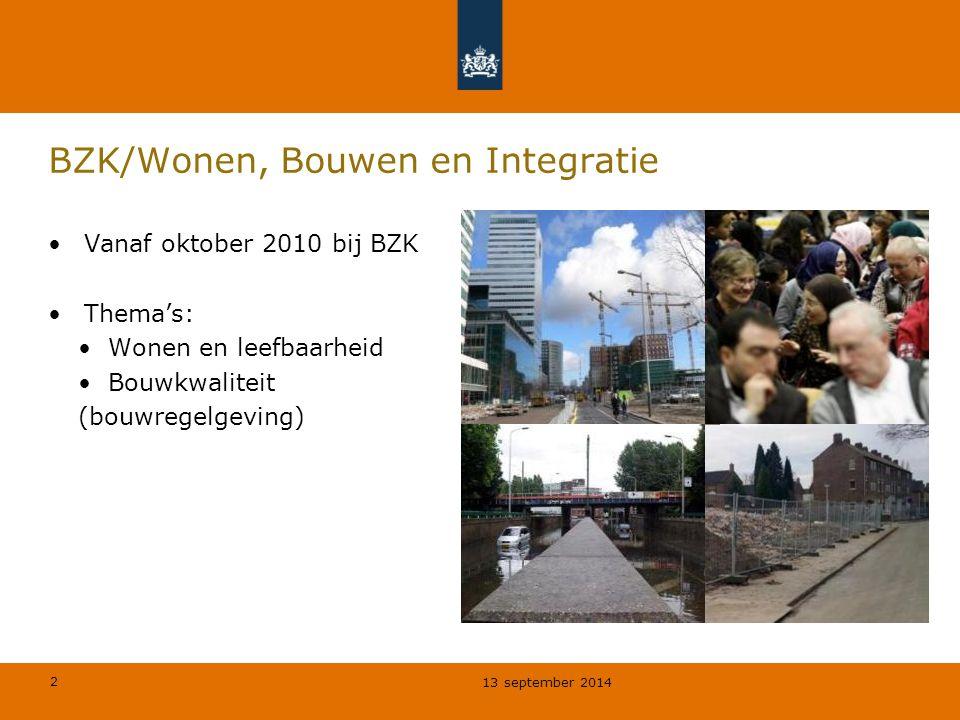 BZK/Wonen, Bouwen en Integratie