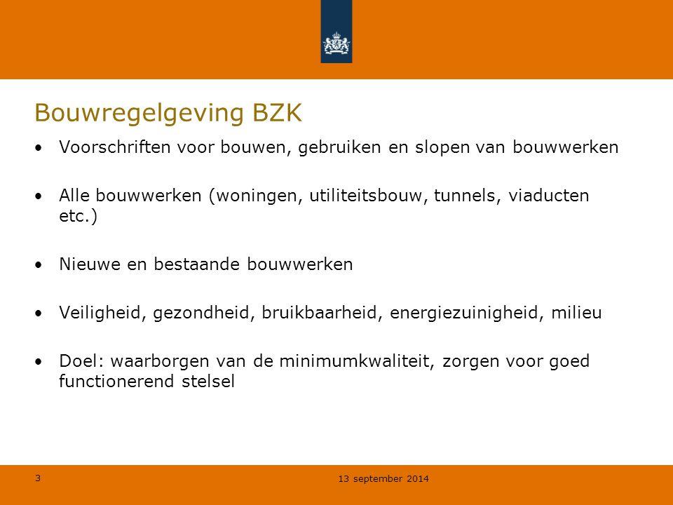 Bouwregelgeving BZK Voorschriften voor bouwen, gebruiken en slopen van bouwwerken.