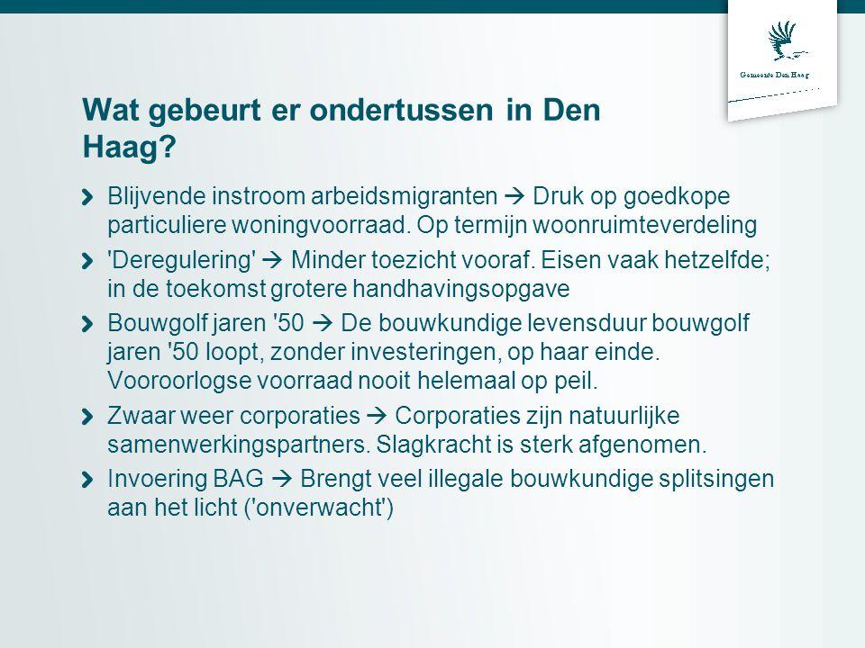 Wat gebeurt er ondertussen in Den Haag