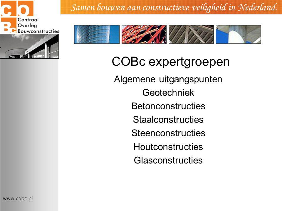 Samen bouwen aan constructieve veiligheid in Nederland.