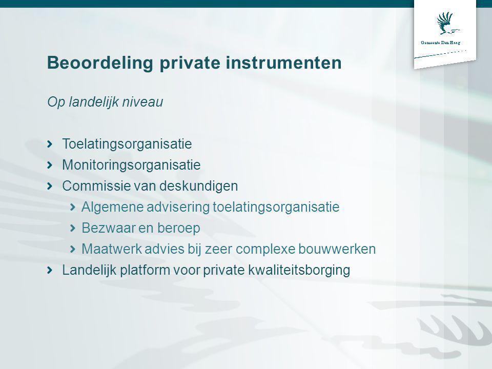 Beoordeling private instrumenten