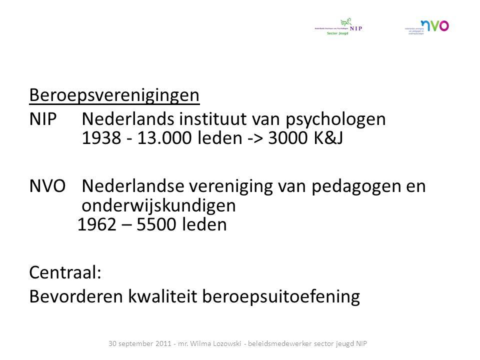 Beroepsverenigingen NIP Nederlands instituut van psychologen 1938 - 13