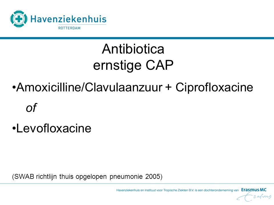 Antibiotica ernstige CAP