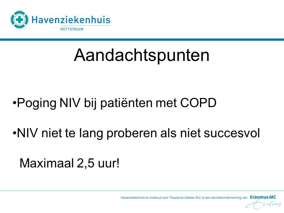 Aandachtspunten Poging NIV bij patiënten met COPD