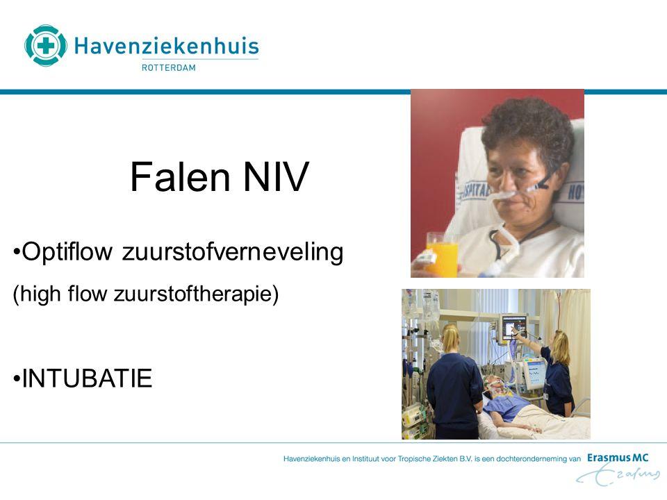 Falen NIV Optiflow zuurstofverneveling INTUBATIE