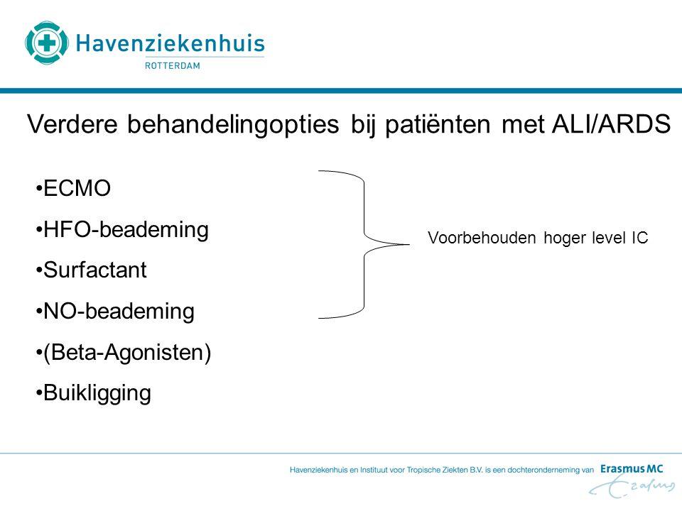 Verdere behandelingopties bij patiënten met ALI/ARDS