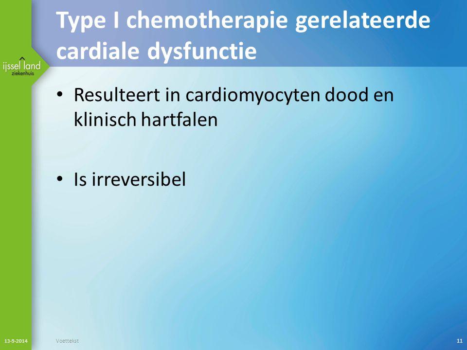 Type I chemotherapie gerelateerde cardiale dysfunctie